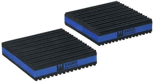 Sound reducing rubber pads